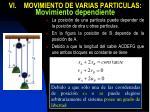 vi movimiento de varias particulas movimiento dependiente