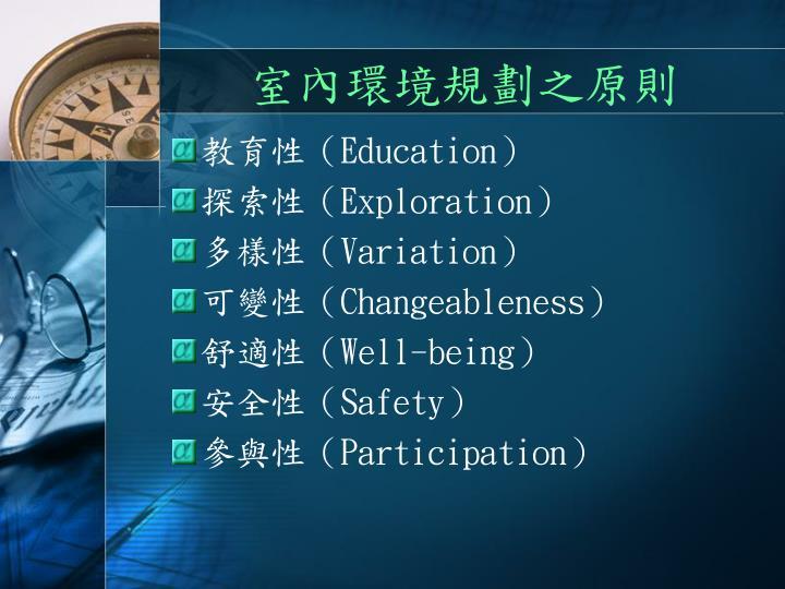 室內環境規劃之原則