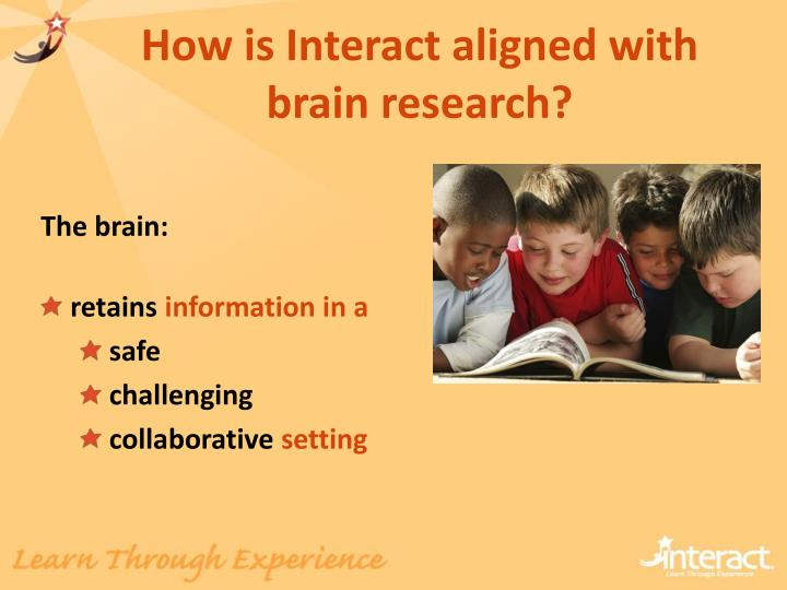 How is Interact aligned with