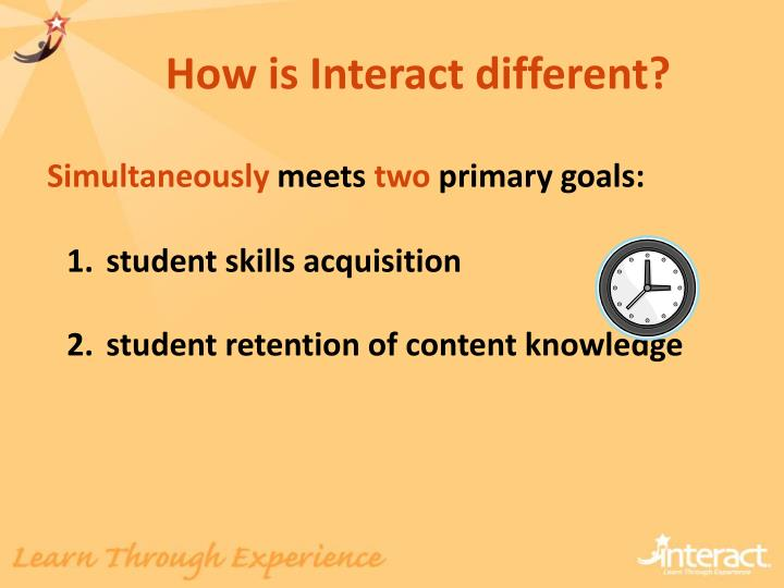 How is Interact different?