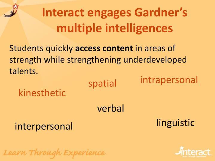 Interact engages Gardner's