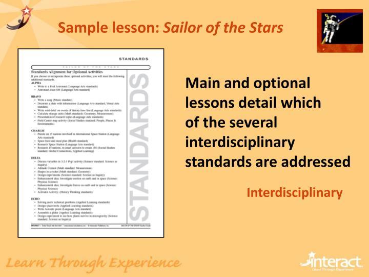 Sample lesson: