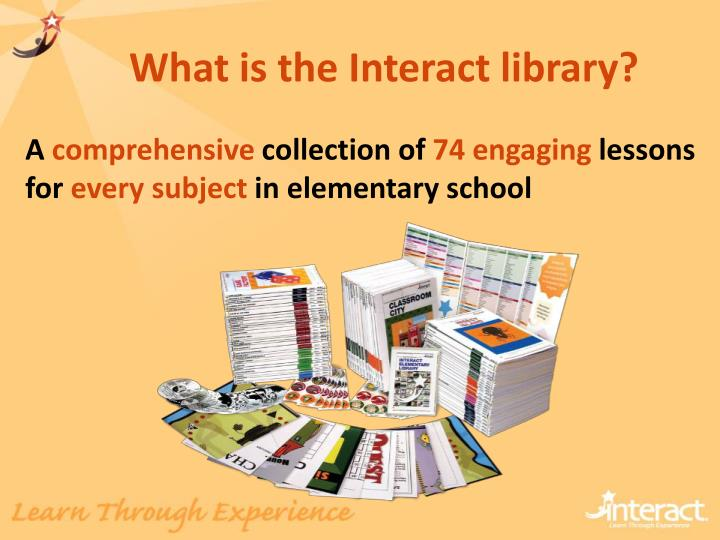 What is the Interact library?