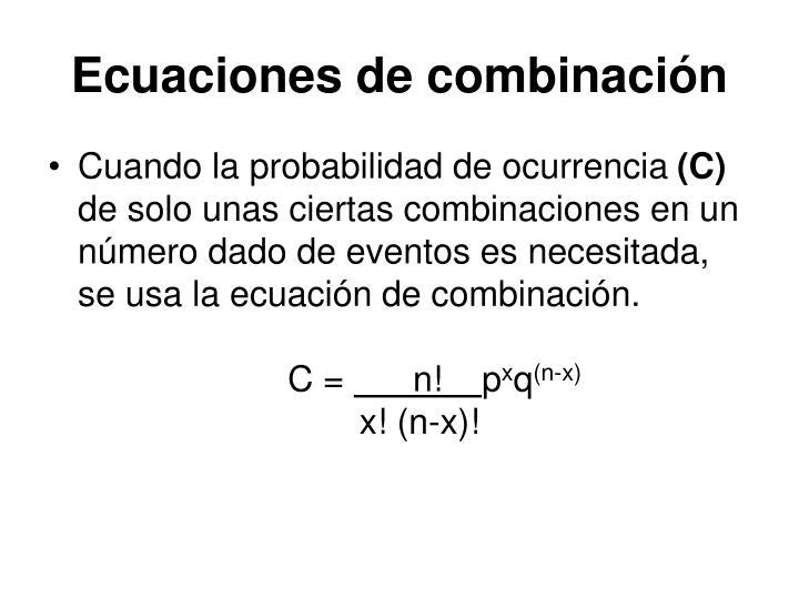 Ecuaciones de combinación