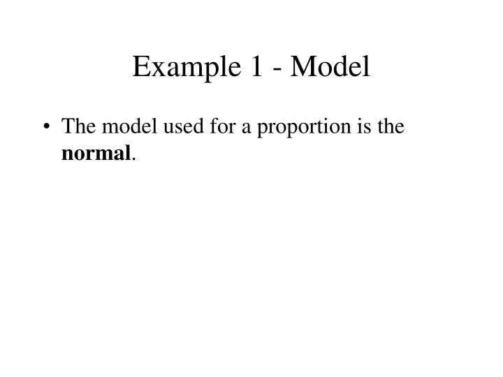 Example 1 - Model