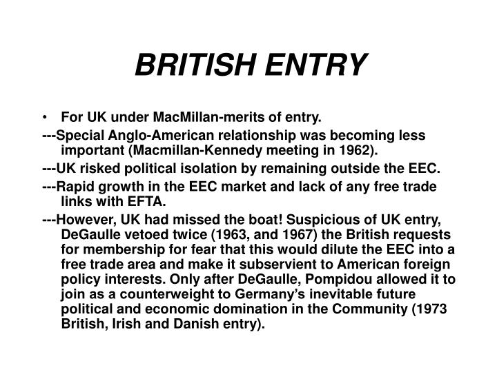 BRITISH ENTRY