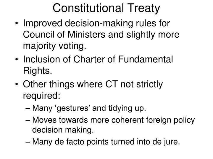 Constitutional Treaty