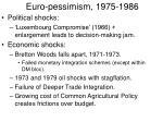 euro pessimism 1975 1986