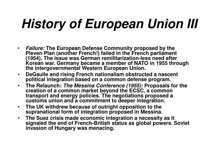 History of European Union III
