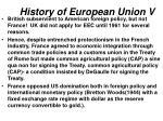 history of european union v