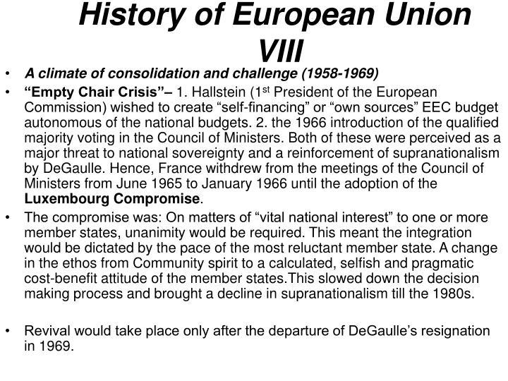 History of European Union