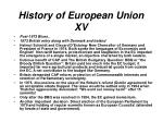history of european union xv