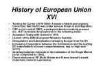 history of european union xvi