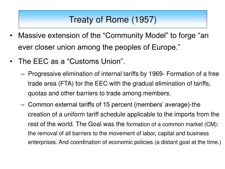 Treaty of Rome (1957)