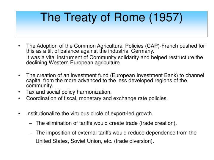 The Treaty of Rome (1957)