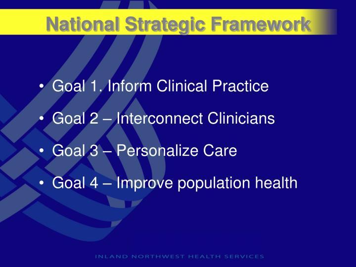 National Strategic Framework