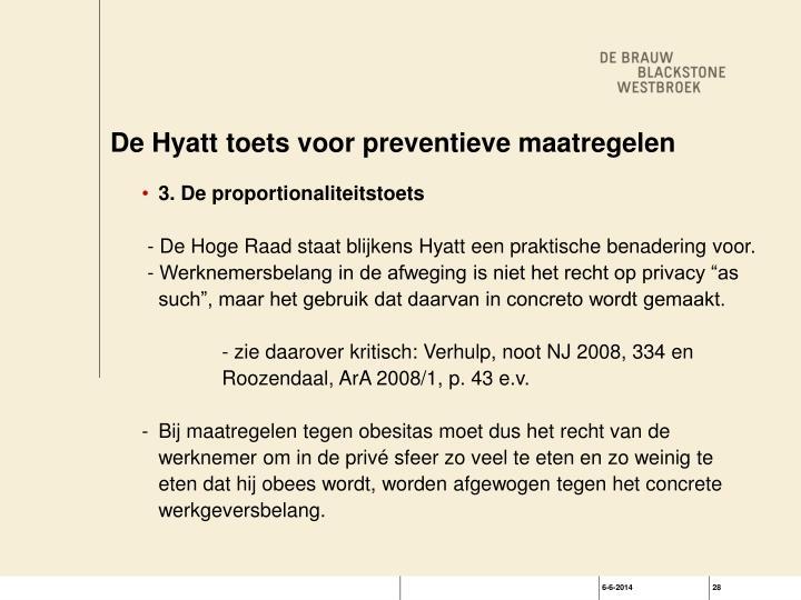 De Hyatt toets voor preventieve maatregelen