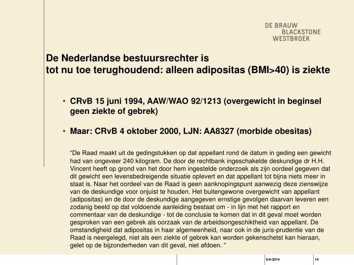 De Nederlandse bestuursrechter is