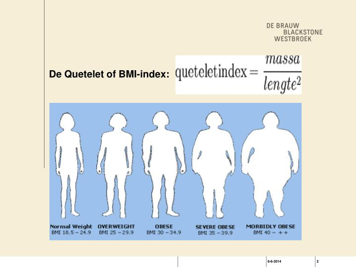 De Quetelet of BMI-index: