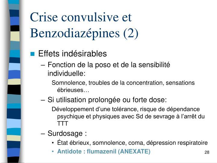 Crise convulsive et Benzodiazépines (2)