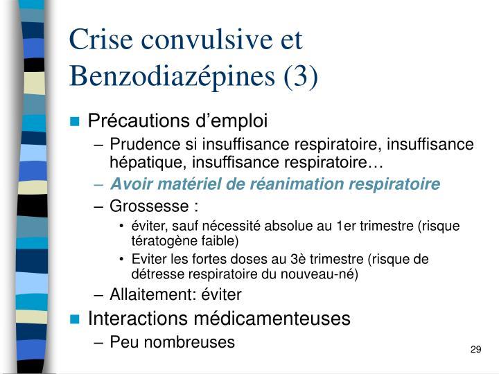 Crise convulsive et Benzodiazépines (3)