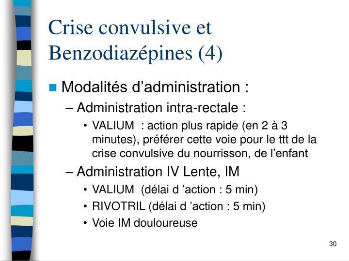 Crise convulsive et Benzodiazépines (4)