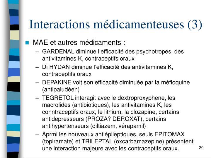 Interactions médicamenteuses (3)