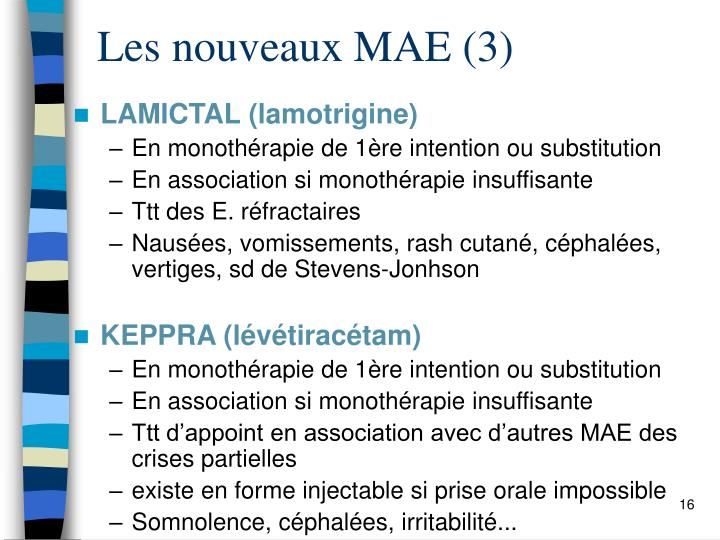 Les nouveaux MAE (3)