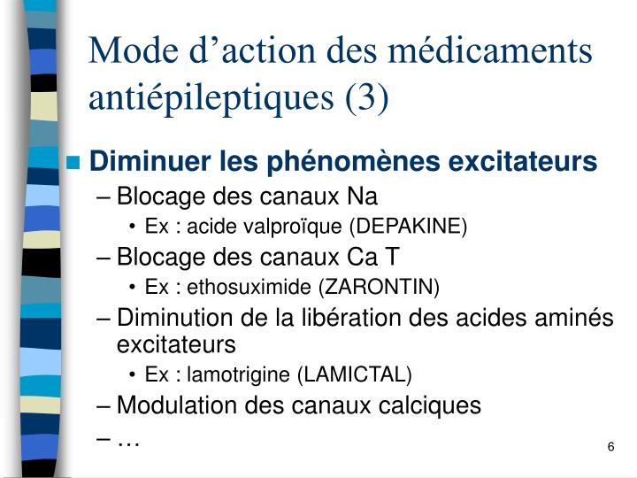 Mode d'action des médicaments  antiépileptiques (3)