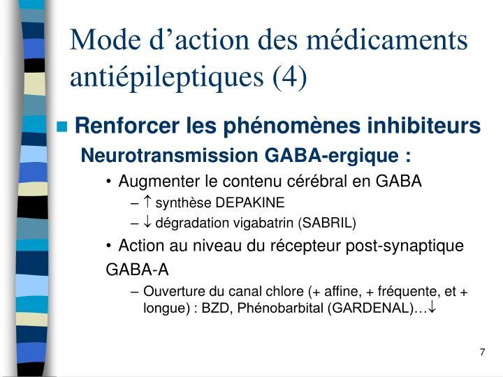 Mode d'action des médicaments  antiépileptiques (4)