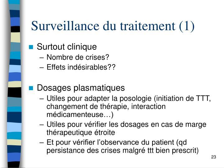 Surveillance du traitement (1)