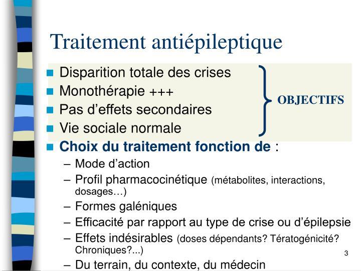 Traitement antiépileptique