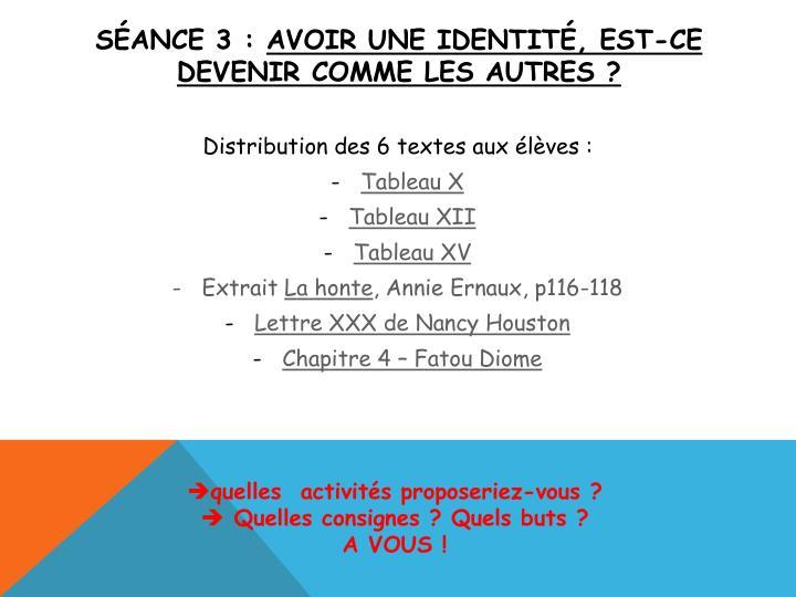 Séance 3 :