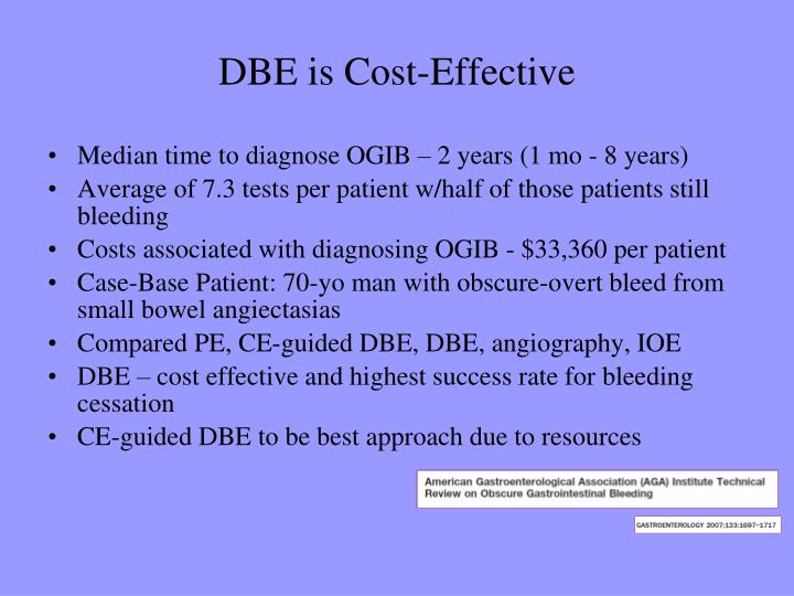 DBE is Cost-Effective