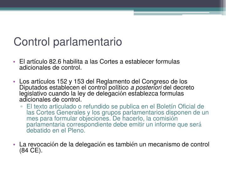 Control parlamentario