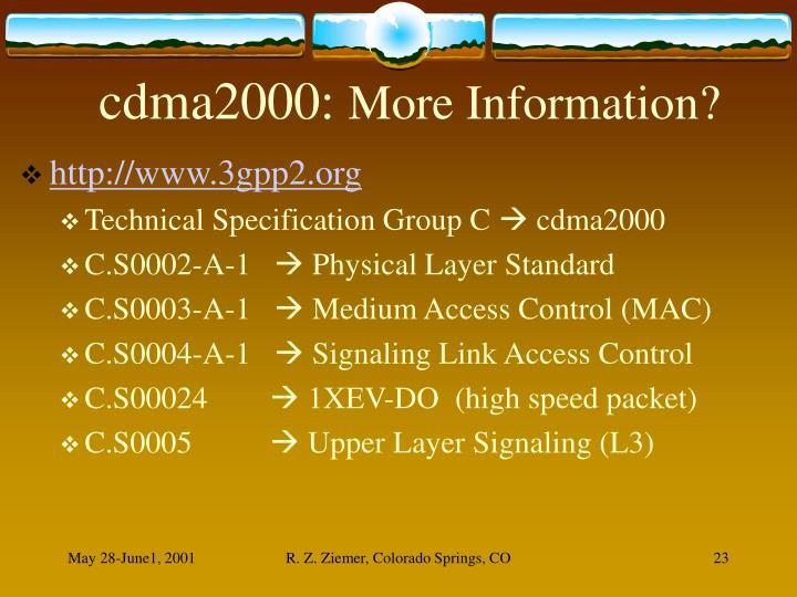 cdma2000:
