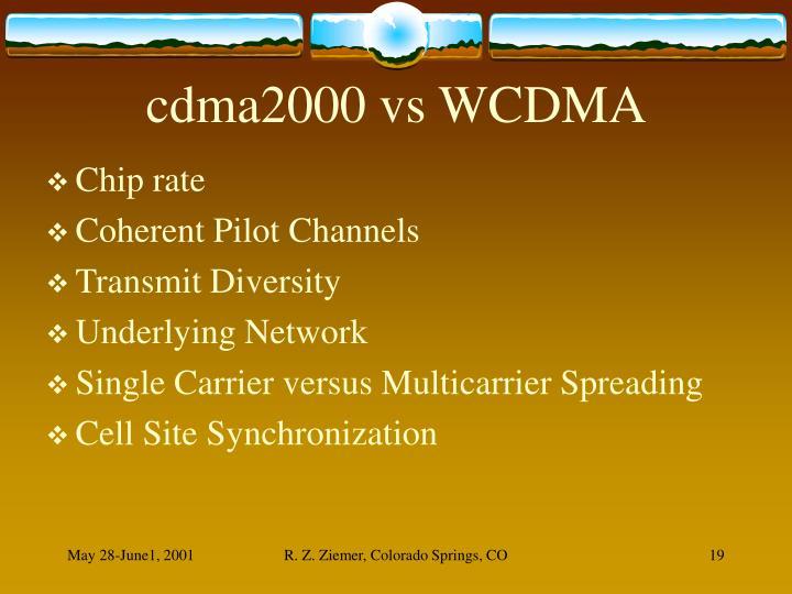 cdma2000 vs WCDMA