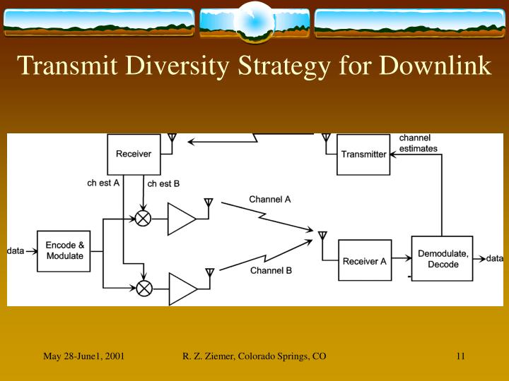 Transmit Diversity Strategy for Downlink