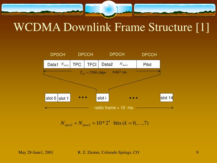 WCDMA Downlink Frame Structure [1]