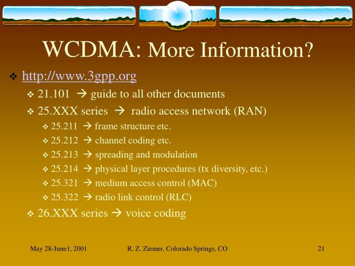 WCDMA: