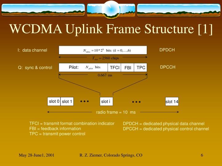 WCDMA Uplink Frame Structure [1]