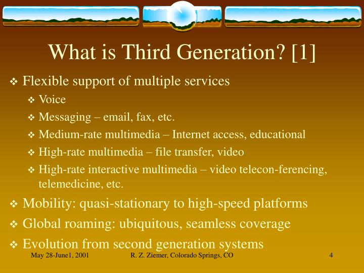 What is Third Generation? [1]