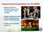 congressional expectations for the nrra