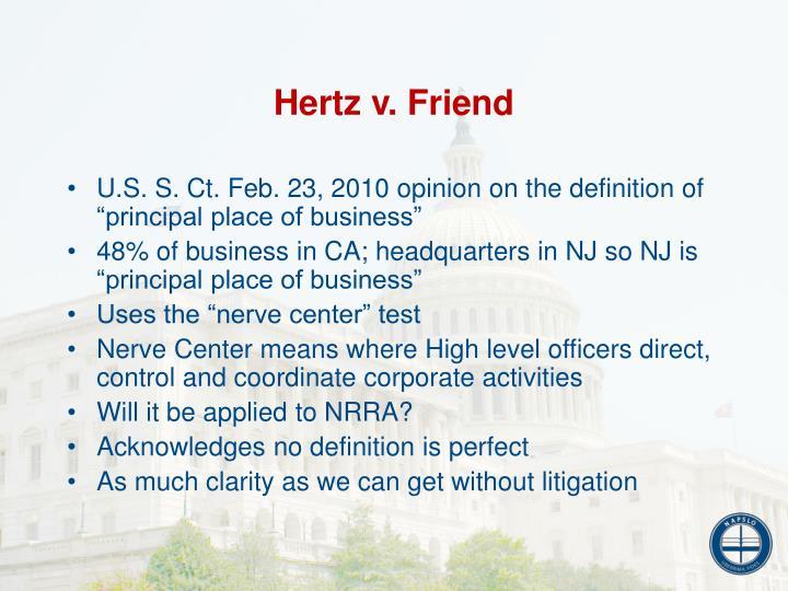 Hertz v. Friend