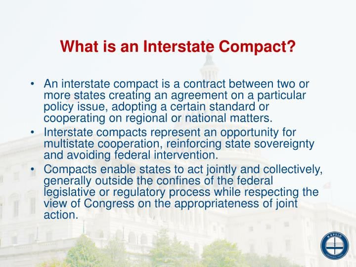 What is an Interstate Compact?