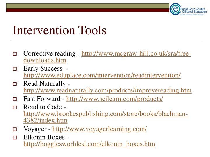 Intervention Tools