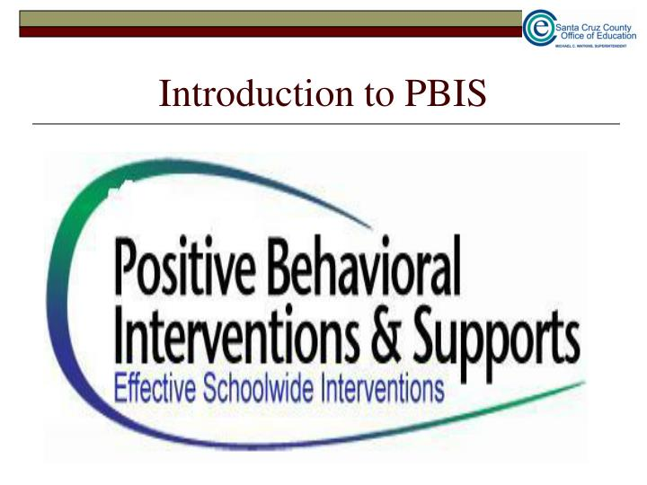 Introduction to PBIS