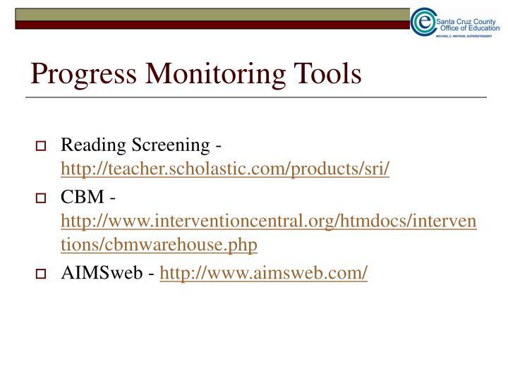 Progress Monitoring Tools