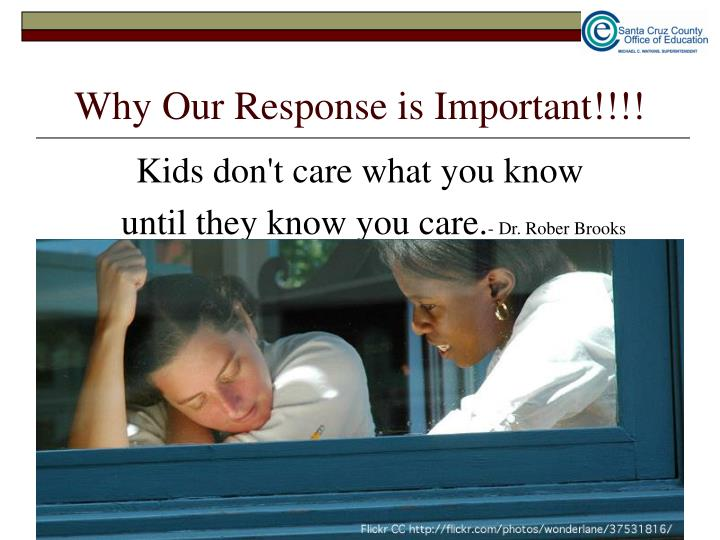 Why Our Response is Important!!!!