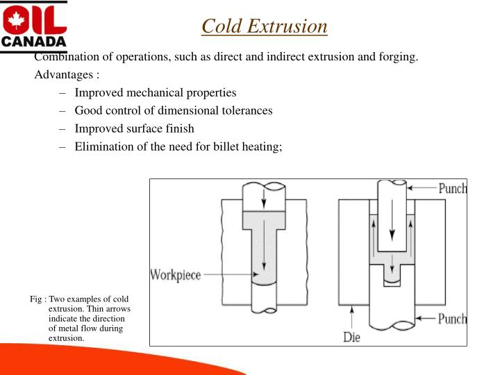 Combination of operations, such as direct and indirect extrusion and forging.